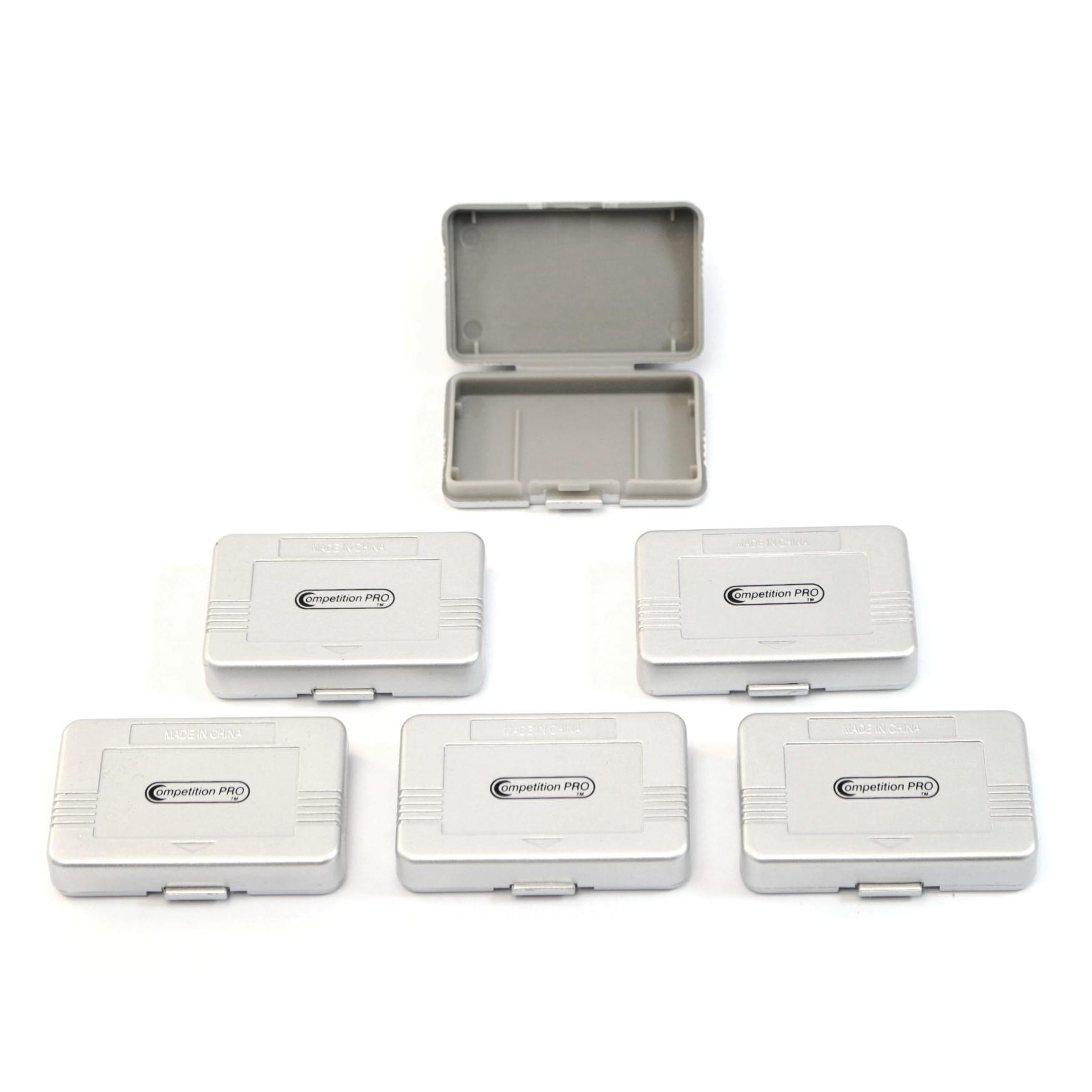 GameBoy Advance - 6 Cases / Hüllen für Module #silber [Competition Pro]