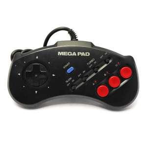 3-Button Controller mit Turbo / Slowmotion / Mega Pad #AS-1007-MD [ASCII]