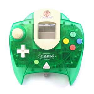Original Controller #grün-weiss transparent / Lime Green Millennium 2000 Edition