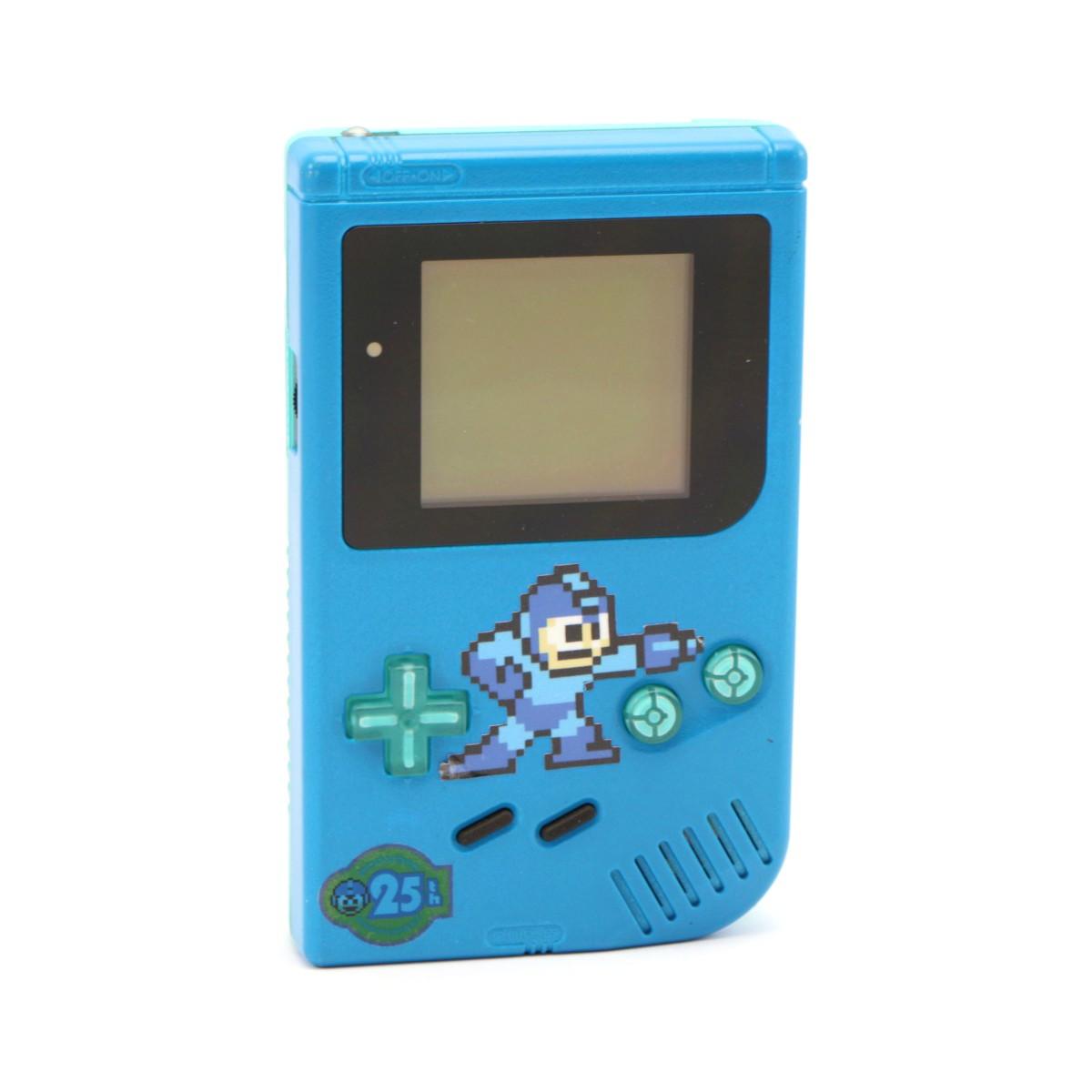 Konsole Classic DMG-01 #Mega Man Custom Case + Backlight #blau