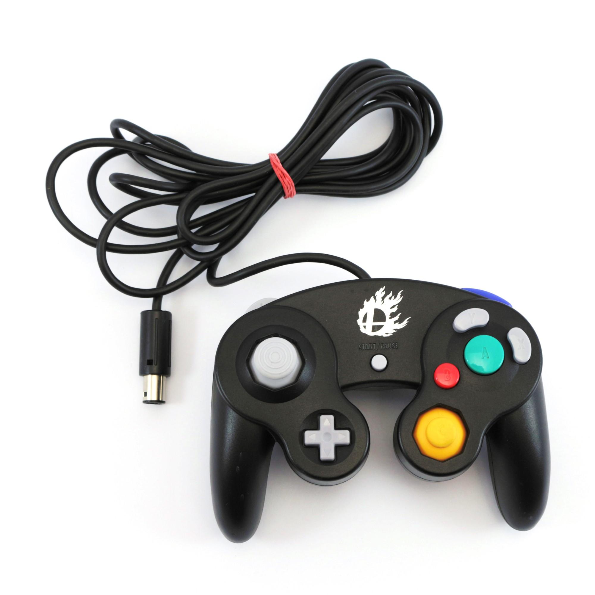 Original Gamecube Controller #schwarz Smash Bros.