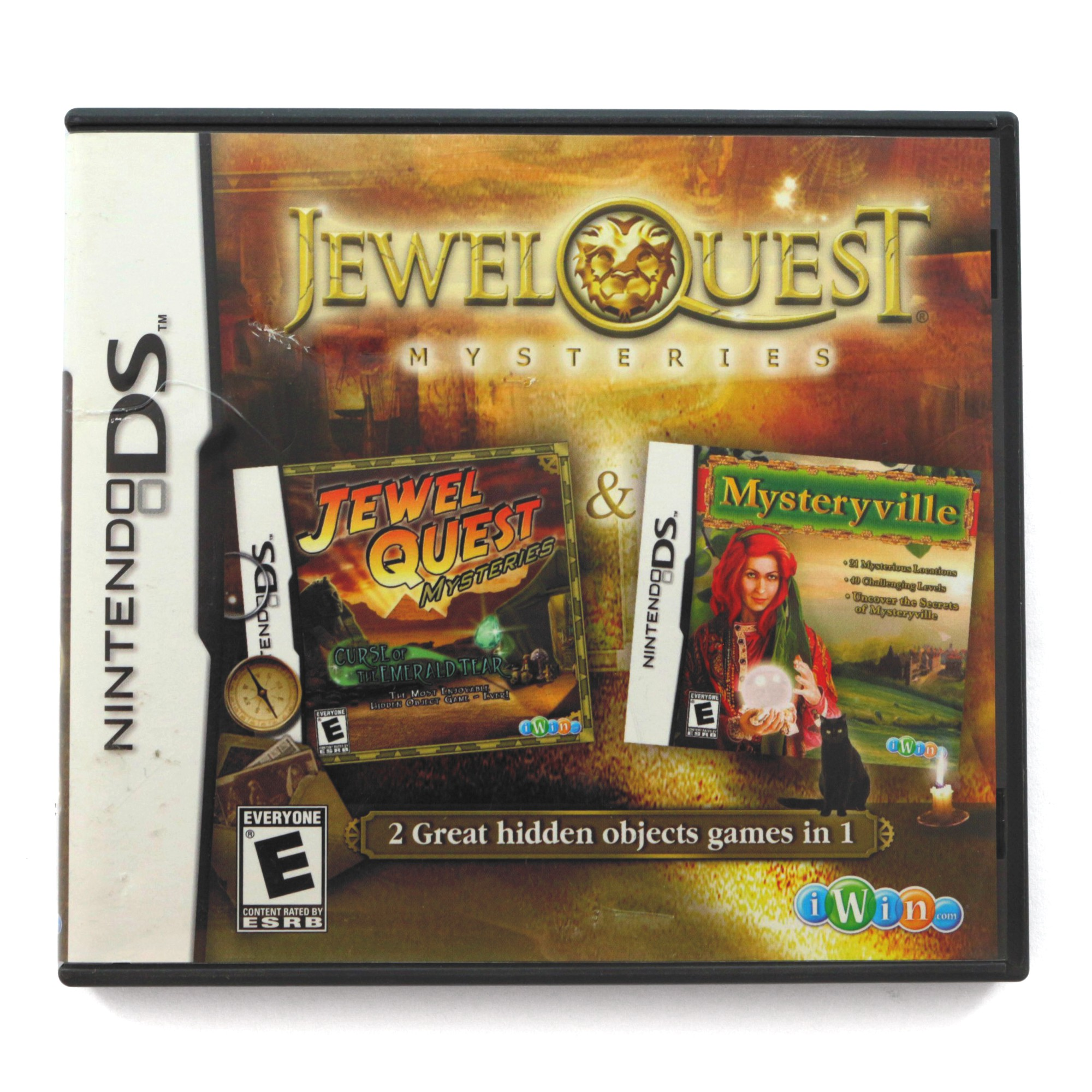 2 in 1 -Jewel Quest Mysteries: Curse of the Emerald Tear + Mysteryville