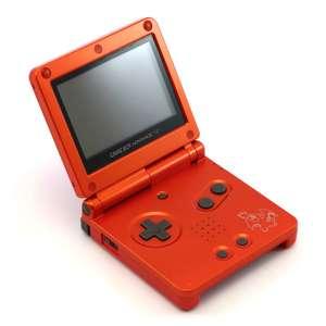 Konsole GBA SP inkl. Netzteil #rot Glurak / Charizard Pokemon Center Edition