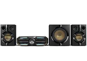 SA 95: Philips FX55 HiFi Minisystem mit Bluetooth #schwarz-blau-gold UNVOLLSTÄNDIG