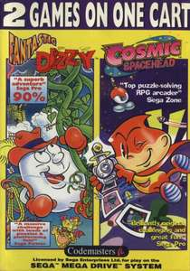 2 Games on One Cart - Fantastic Dizzy & Cosmic Spacehead