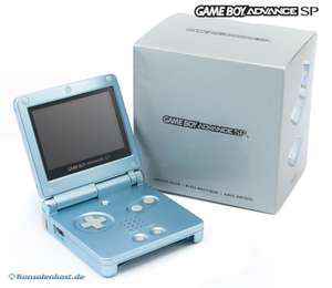console GBA SP #Arctic Blue + power supply