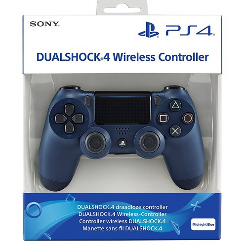 Original Wireless DualShock 4 Controller #Midnight Blue / blau V2 [Sony]