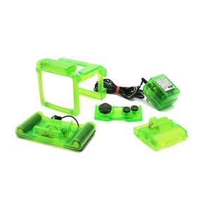 Zubehör-Set #transparent-grün mit Lupe+Licht, Grip-Akku, Netzkabel, Button Schutz