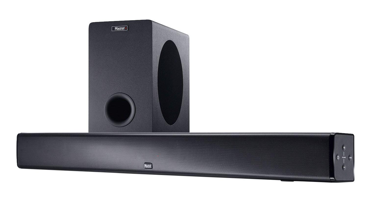 Magnat SBW 250 | Heimkino-Soundbar mit Wireless-Subwoofer #schwarz