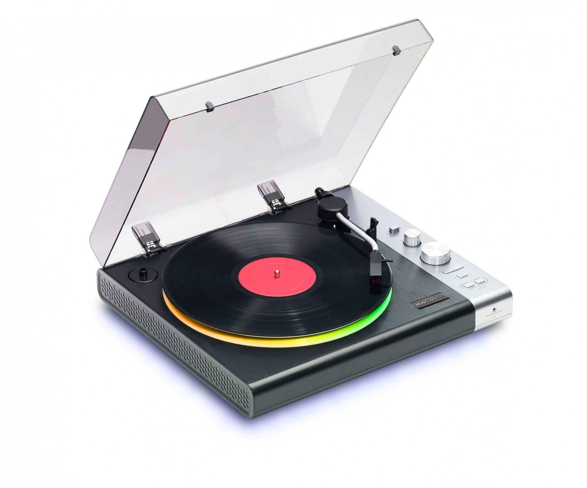 Mac Audio TT 100 BK E | Plattenspieler mit Bluetooth, Light-Show #schwarz-silber