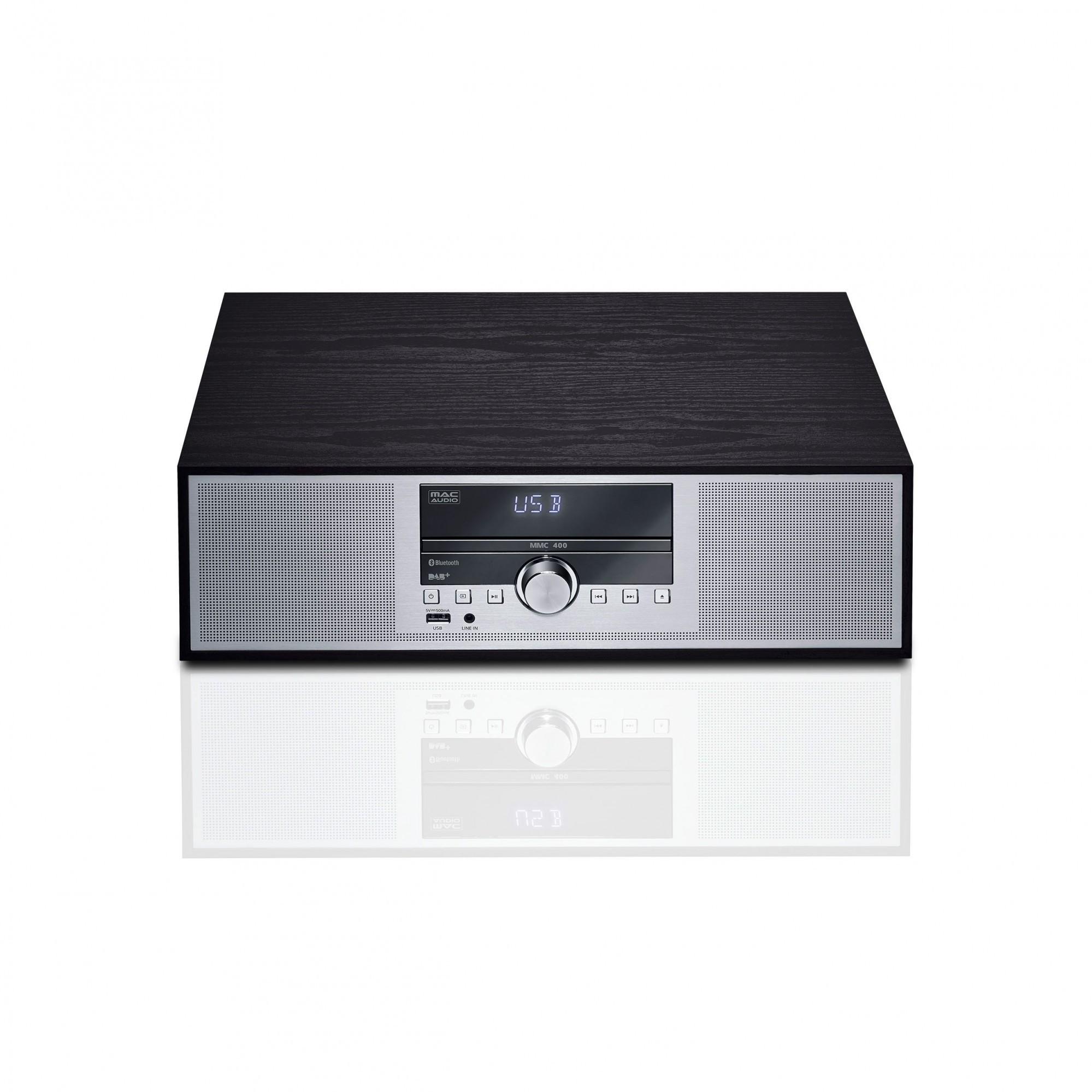 Mac Audio MMC 400 - Mikro-Anlage mit Bluetooth, CD, DAB+, RDS #schwarz