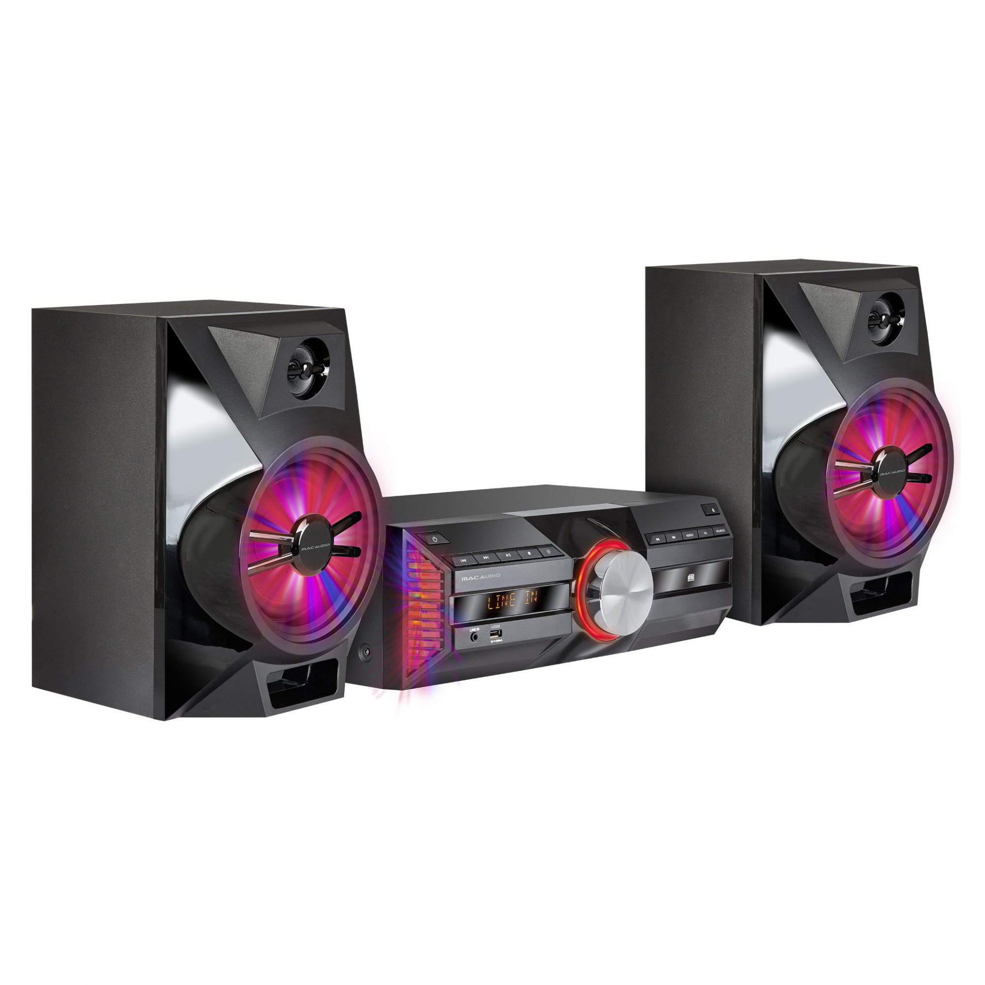 Mac Audio MPS 701 | 720 Watt Hifi-System mit DAB+, Bluetooth, USB, RDS #schwarz