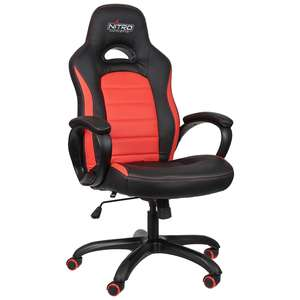 SA 218: Nitro C80 Comfort Gaming Chair #schwarz-rot UNVOLLSTÄNDIG