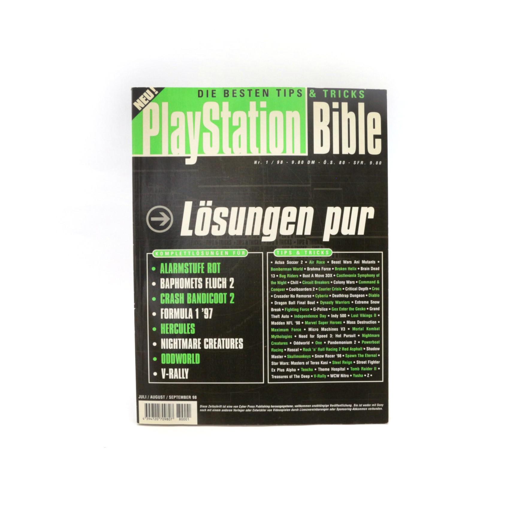 Playstation Bible: Lösungen Pur Nr. 1/98