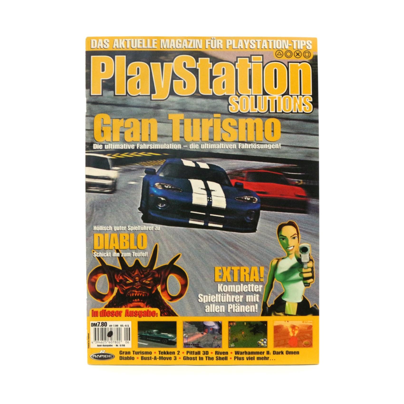Playstation Solutions: Magazin für Playstation Tips Nr. 6/98