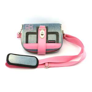 T-Jean Tasche Travel Bag / Carry Case #pink / jeans [Thrustmaster]