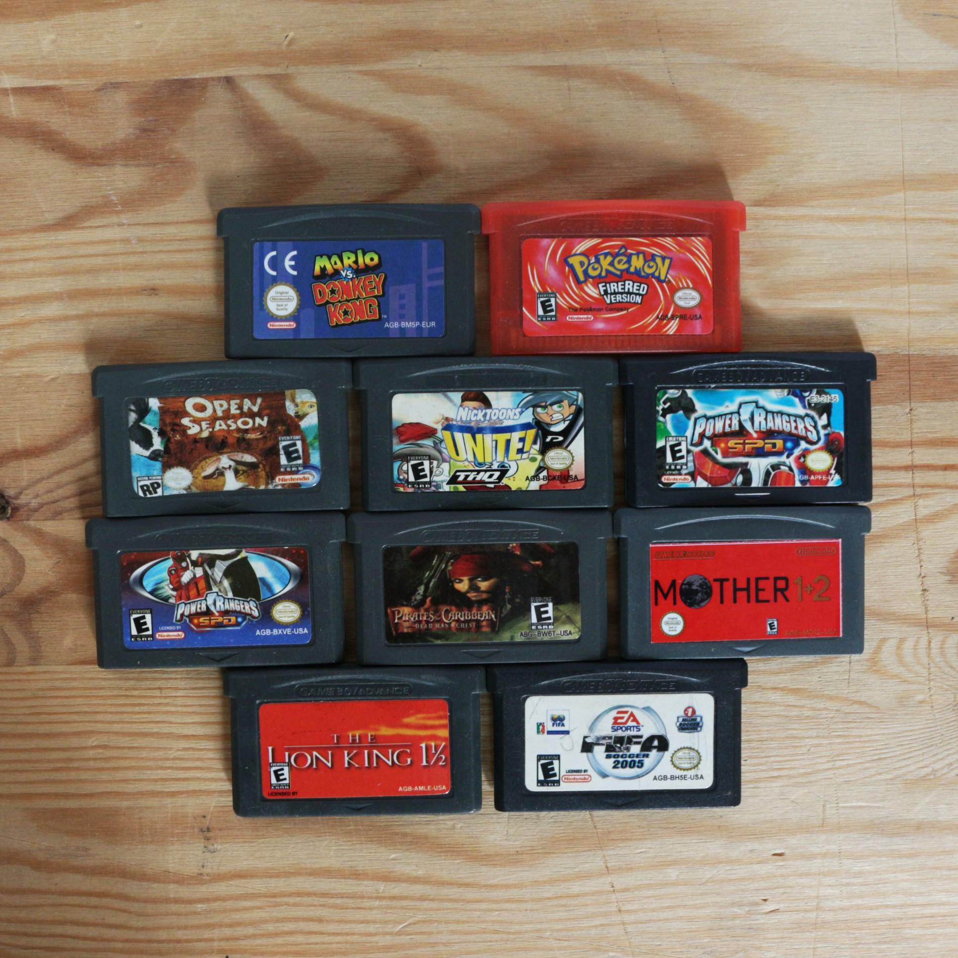 10 GameBoy Spiele zum TOP Preis! - GBA 367
