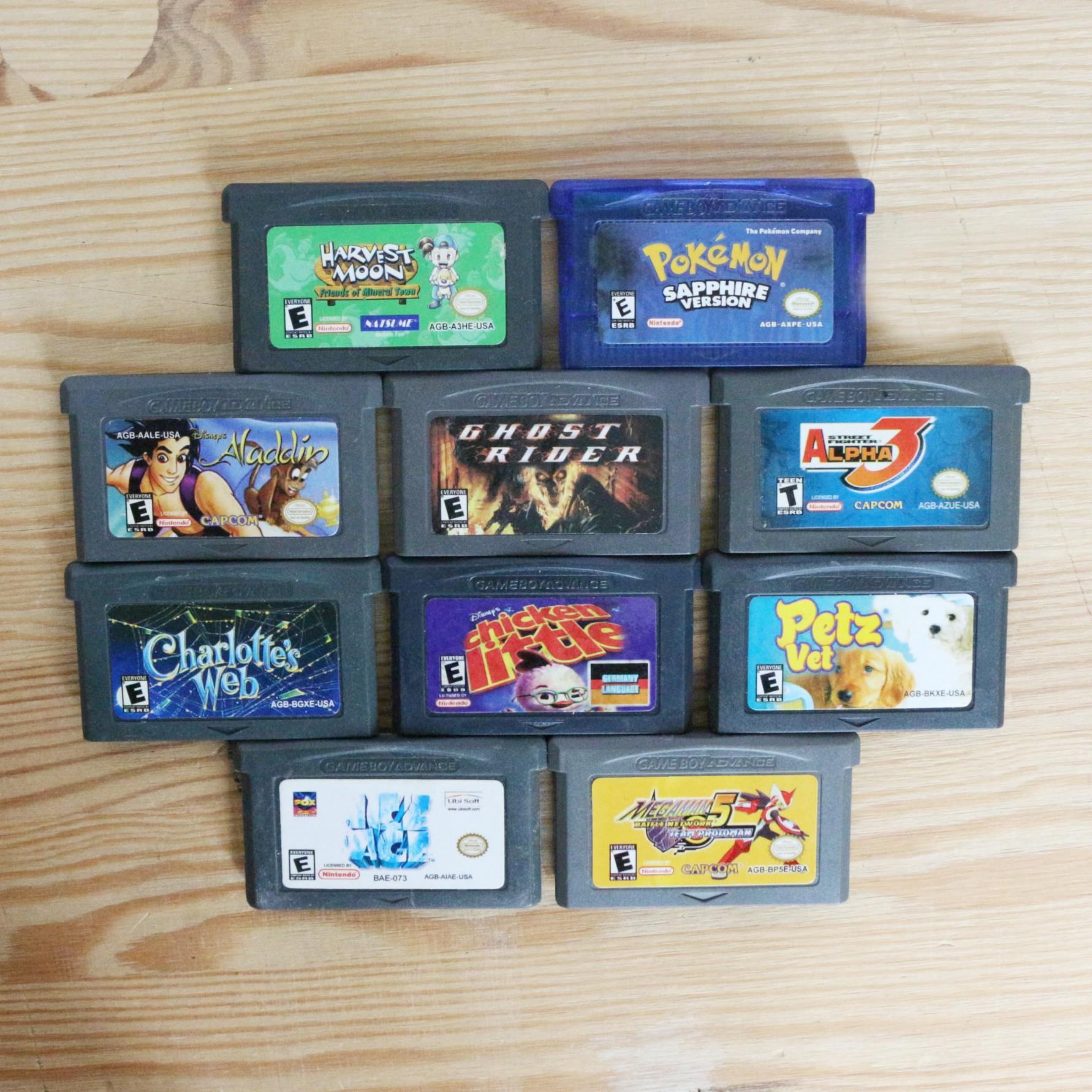 10 GameBoy Spiele zum TOP Preis! - GBA 394