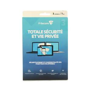 F-Secure Pack Total Freedome + Safe - 3 Geräte 1 Jahr