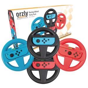 Racing Wheel Party Pack 4x Lenkradaufsätze für Joy-Cons [Orzly]