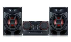 LG CK43 Mini HiFi System mit CD, Radio, USB #chrom-schwarz-rot [LG Electronics]