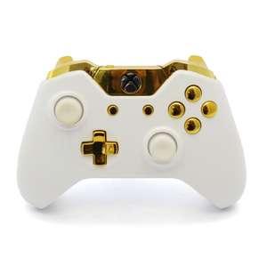 Original Wireless Controller Custom Design / Case #Weiß-Gold [Microsoft]