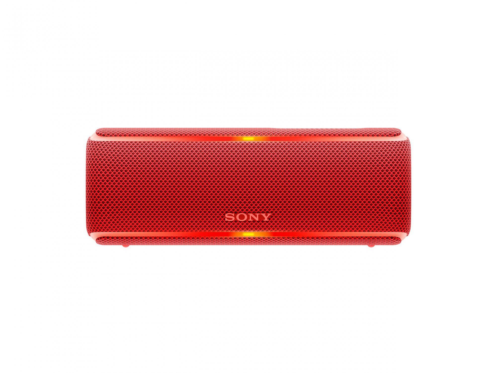 Sony SRS-XB21 kabelloser Bluetooth Lautsprecher (tragbarer, farbige Lichtleiste, Extra Bass, NFC, wasserabwe