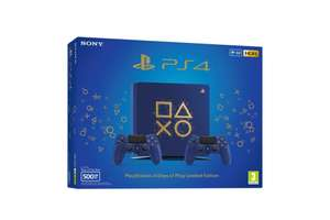 Konsole Slim 500GB #Days of Play Limited Edition Blue + 2 Controller
