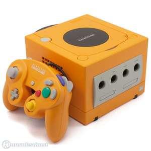 Konsole #orange + Original Controller + Zubehör