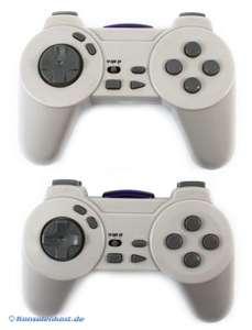 Controller / Pad Wireless Doppelpack + Empfänger #weiß-grau [Speedlink]