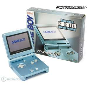 Konsole GBA SP #Pearl Blue AGS-101 + Netzteil