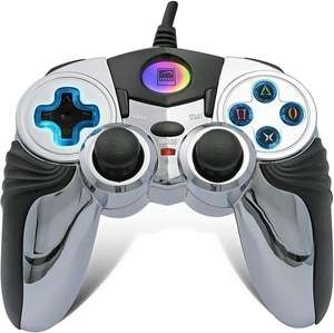 Controller / Pad #silber Chrome Blue Glow Gamepad [SpeedLink]
