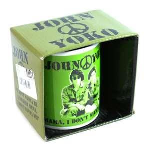 John & Yoko Tasse: I don't wanna be a soldier