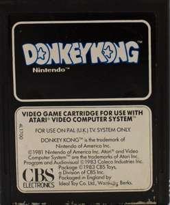 Donkey Kong #s/w Label