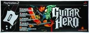 SA 793: Guitar Hero Controller / Gitarre / Guitar Wireless #schwarz-weiß [RedOctane] UNVOLLSTÄNDIG