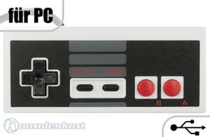 USB Controller / Pad #grau NES Style [Dritthersteller]