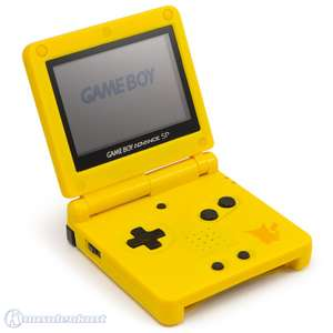 Konsole GBA SP #Pikachu Edition + Netzteil