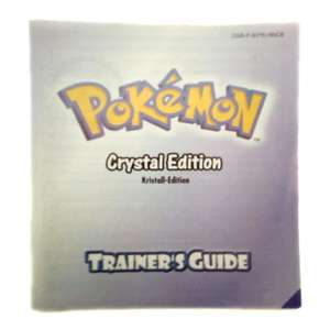 Pokemon Kristall Edition - Spielanleitung / Handbuch / Manual / Guide / Instruction