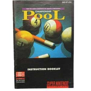 Pool Championship - Spielanleitung / Handbuch / Manual / Guide / Instruction