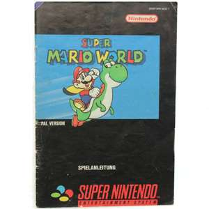 Super Mario World 1 - Spielanleitung / Handbuch / Manual / Guide / Instruction