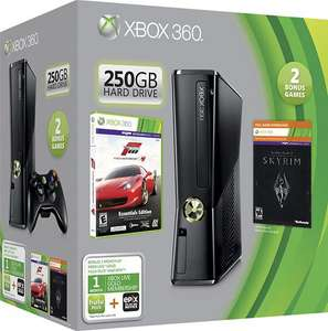 SA 858: Konsole Slim 250GB #Forza 4 - Skyrim Edition UNVOLLSTÄNDIG