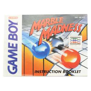 Marble Madness #DMG-MB-USA - Spielanleitung / Handbuch / Manual / Guide / Instruction