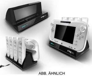 WiiU Ladestation 4+1 Charger für 4 Fernbedienungen + Gamepad