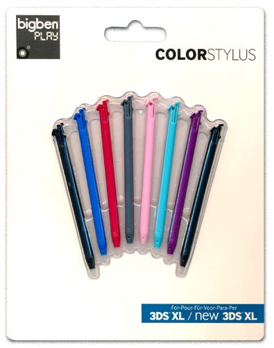 Nintendo New 3DS - Stylus Rainbow Set