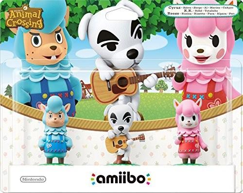 Animal Crossing Collection 3er Set: Björn + K.K. + Rosina