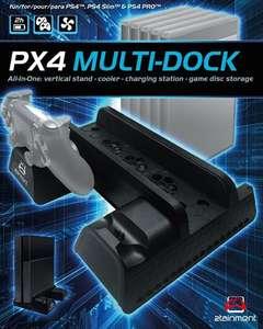Multi-Dock PX4 für 2 Controller + Standfuß + Kühlung + Stauraum für 12 Spiele