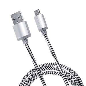 USB Ladekabel 3m #silber {Eaxus]