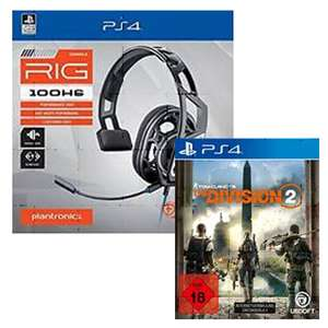 Headset Plantronics 100HS + The Division  2