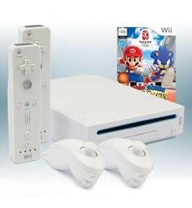 Konsole #weiß + Mario & Sonic + 2 Original Remotes + Zubehör