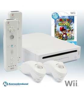 Konsole #weiß + Mario Tennis + 2 Original Remotes + Zubehör